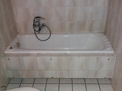 remplacement d un bain par une cabine de douche avant